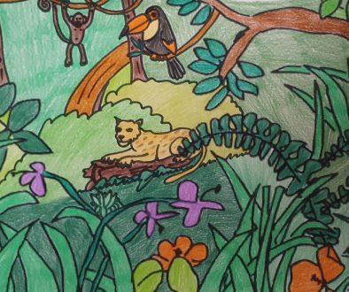 Urwald mit Tieren 2b